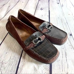 Aerosoles Brown Suede Leather Loafers Size 7